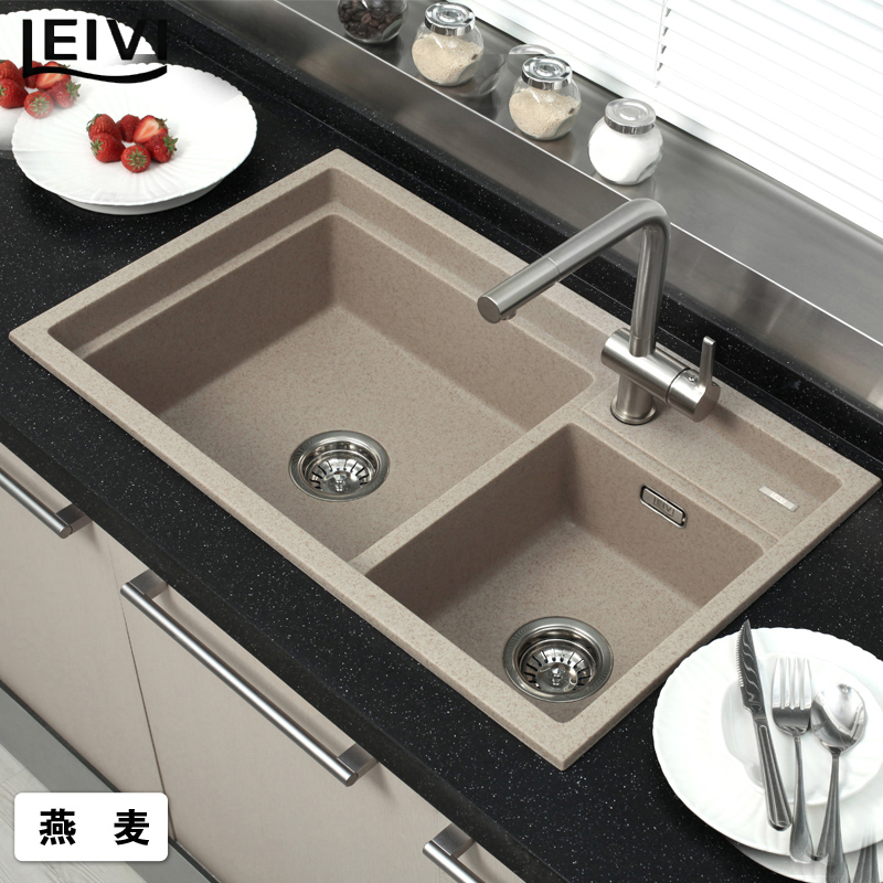 Granite Sink Price : Top quartz stone sink granite sink slot vegetables basin bundle fq790 ...