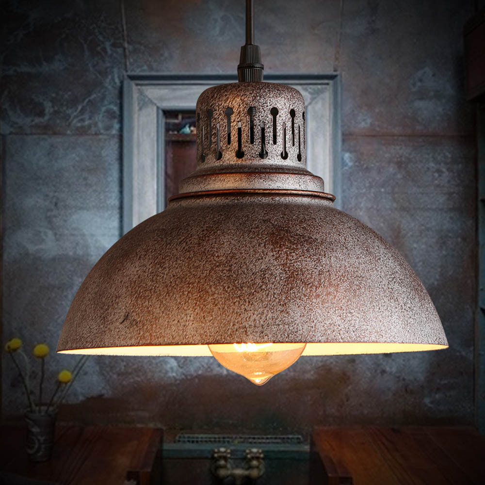 Creative Antique Retro Finish Decorative Fashion Lamp Pendant Light Scrap Metal Designed ...