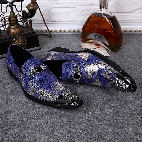 hot new top italian Style real cowhide leather qshoes shoe mens business dress casual man men fashion pointed steel toe shoes(China (Mainland))