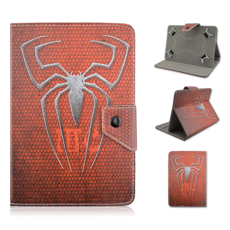 New The Spiderman Logo 1piece/lot Magnetic Universal Leather Stand Folding Folio Cover Case For 10inch IOS Android Tablet PC(China (Mainland))