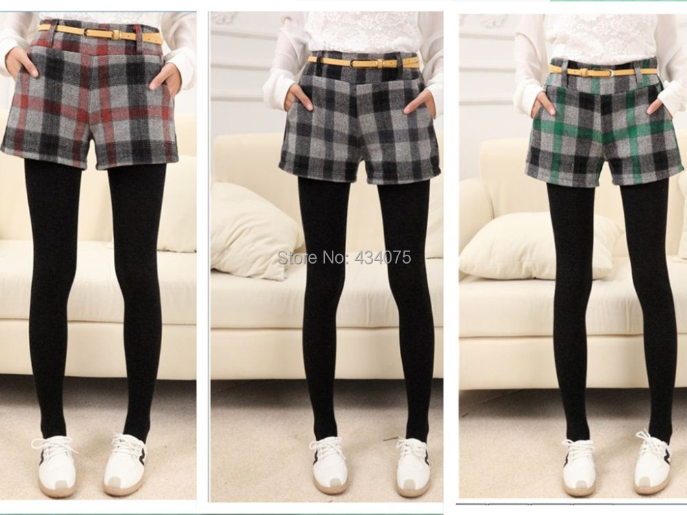 Women's shorts turn-up straight woolen bootcut short plus large big size casual shorts 2014 New CHIC!(China (Mainland))