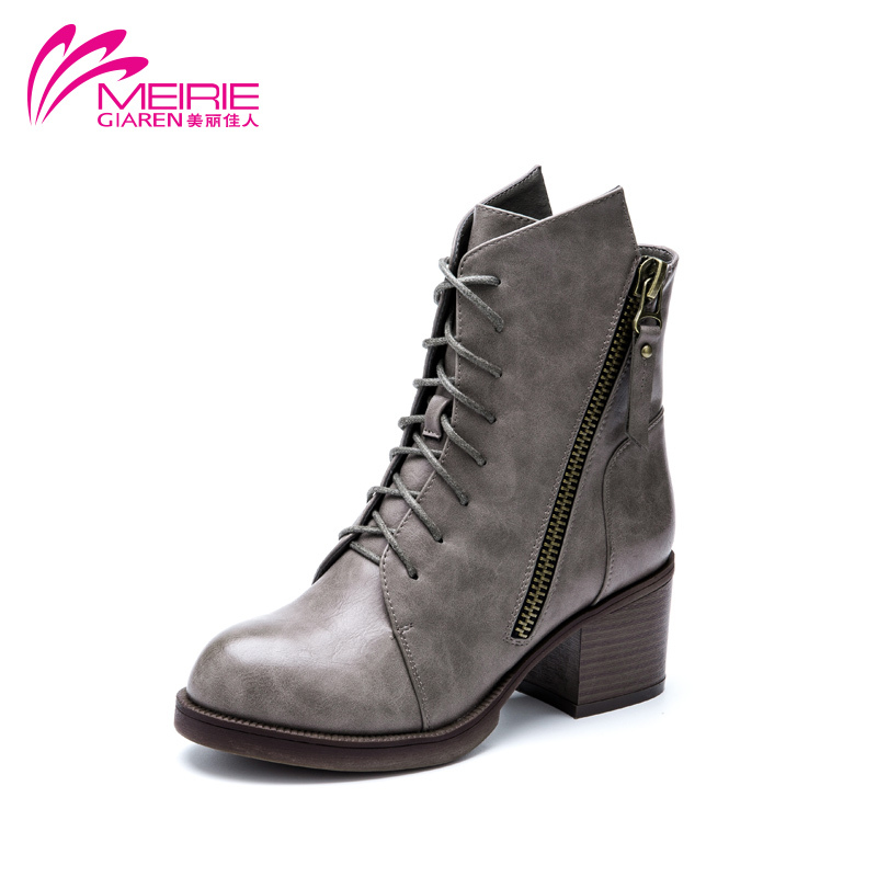 aokang 2015new arrival high quality thick heel ankle
