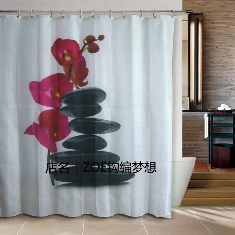 purple flowers bathroom products Shower Curtain 240x180cm bath curtain bathroom curtain waterproof cortina de bano