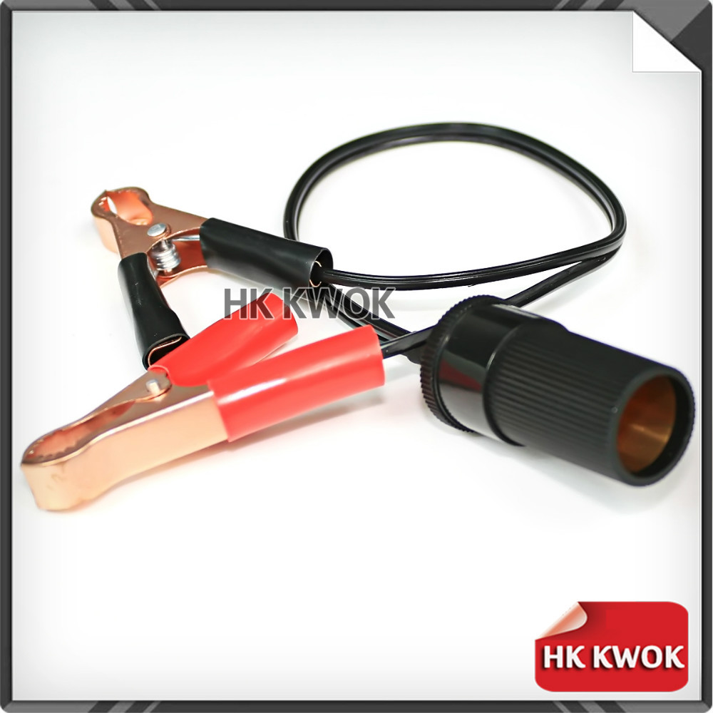 12v 40cm Cigarette Lighter Power Socket Adaptor to Car Boat Caravan Battery Terminal Clip-on Simple Fitting Unit HK Shipment(China (Mainland))