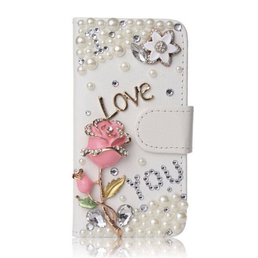Charming Bling Crystal Rhinestone PU Leather Flip Stand Wallet Phone Back Case Cover for BlackBerry Passport/Q30 with card slot(China (Mainland))