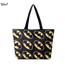 ZIWI Brand Causal Canvas Material Woman Handbags Printed Retro Harajuku Batman Fashion Digital Bags Best Service WK003(China (Mainland))