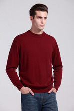Sparsil Man's Cashmere Sweaters Winter Autumn O-Neck Long Sleeve Pullovers Soft Warm Knitwear Plus Size S-XXXL A42(China (Mainland))