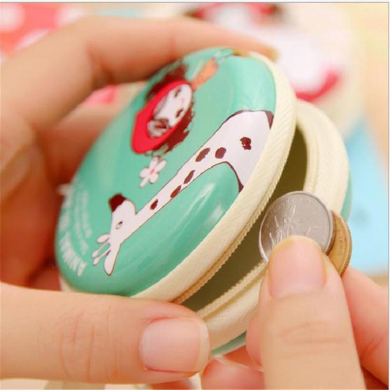 Portable Mini Round Hard Coin Bag for Earphone Headphone Cartoon Candy Color Silicone Coin Purse Key Wallet Organizer Box(China (Mainland))