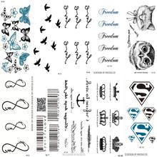 10 ШТ. 1 Лот Мода Мужчины И Женщины Татуировки Прекрасный бабочка алмазов Птица Сова Боди-Арт Флэш Водонепроницаемый Временные Татуировки наклейки(China (Mainland))