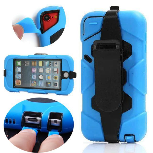New Hot Waterproof Military Extreme Heavy Duty Water/Snow/Shock /Dirt Proof For Apple iPod Touch 5 Hard Case Cover Free Shipping(China (Mainland))