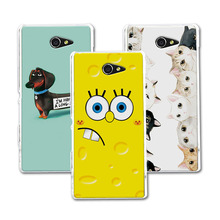 "Buy Sony Xperia M2 Aqua 4.8"" Coque Hard Plastic Case Coque Sony Xperia M2 Case Cover S50H Bear Cartoon Painting Protector for $1.36 in AliExpress store"