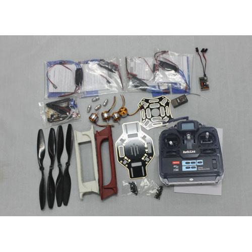 JMT RC 4 Axis Multi heli Quadcopter UFO ARF Kit: F450 Frame + A2212 Motor + HOBBYWING ESC + CF Pros + 6CH TX RX F02192-G<br><br>Aliexpress