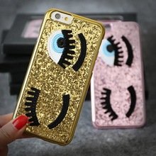 iPhone SE 3D Glitter Bling Chiara Ferragni Miss Gossip Blinking Wink Big Eyes Hard Case Cover 5S 5G Retail Box - Amy Guo's store