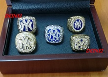 Alloy Rings Sets for 1996 1998 1999 2000 2009  Yankees Championship Rings,five together solid high quality(China (Mainland))
