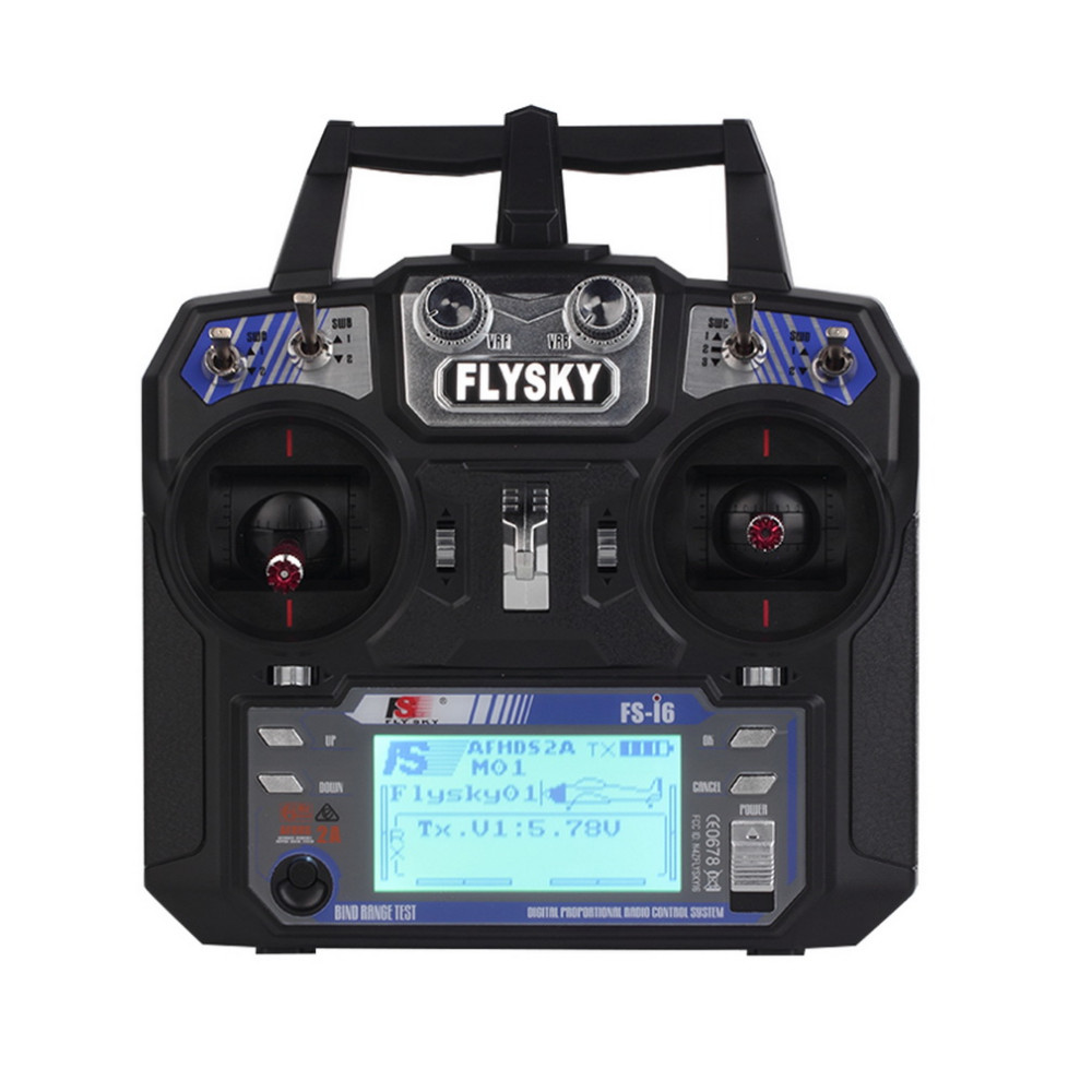 FlySky FS-i6 2.4G 6CH AFHDS RC Transmitter With FS-iA6 Receiver for Airplane Heli UAV Multicopter Drone