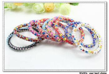 50 pcs lot small size mixed color cute beetle women ponytail holder & hair bands H2079 free shipping