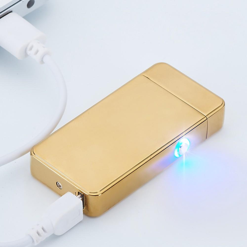 ถูก ที่ชื่นชอบของคนหนุ่มสาวDual Arc USBไฟแช็อิเล็กทรอนิกส์แบบชาร์จข้ามไฟแช็กแอลอีดี