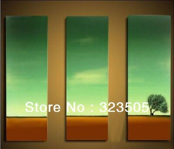 3 panel canvas wall art  modern abstract art  landscape oil paintings on canvas for home decoration  free shipping