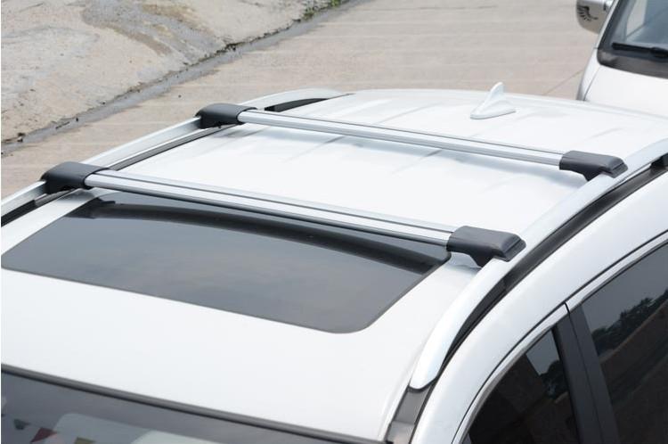 2x car roof rack cross bar anti theft lock aluminum