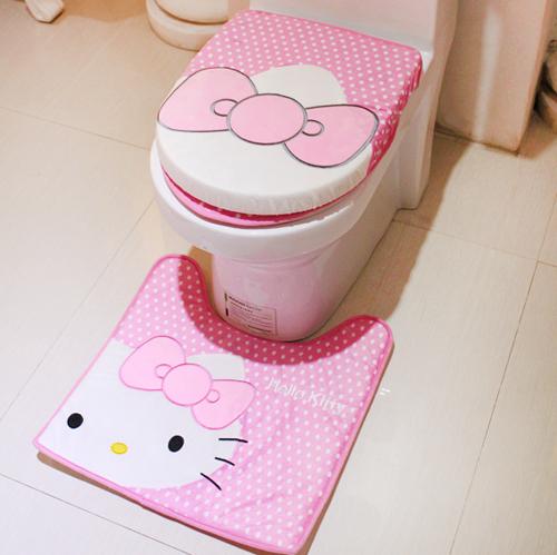 Accesorios De Baño Tress:Hello Kitty Bathroom Accessory Set