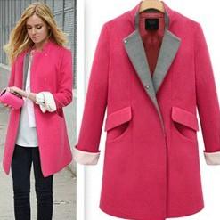 Здесь можно купить  2014 jooen stand collar fashion medium-long street wool outerwear woolen overcoat  Одежда и аксессуары