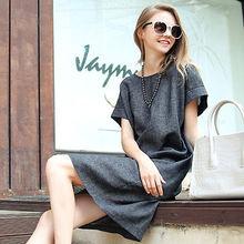 Sexy Women Summer Casual Short Sleeve Short Dress(China (Mainland))