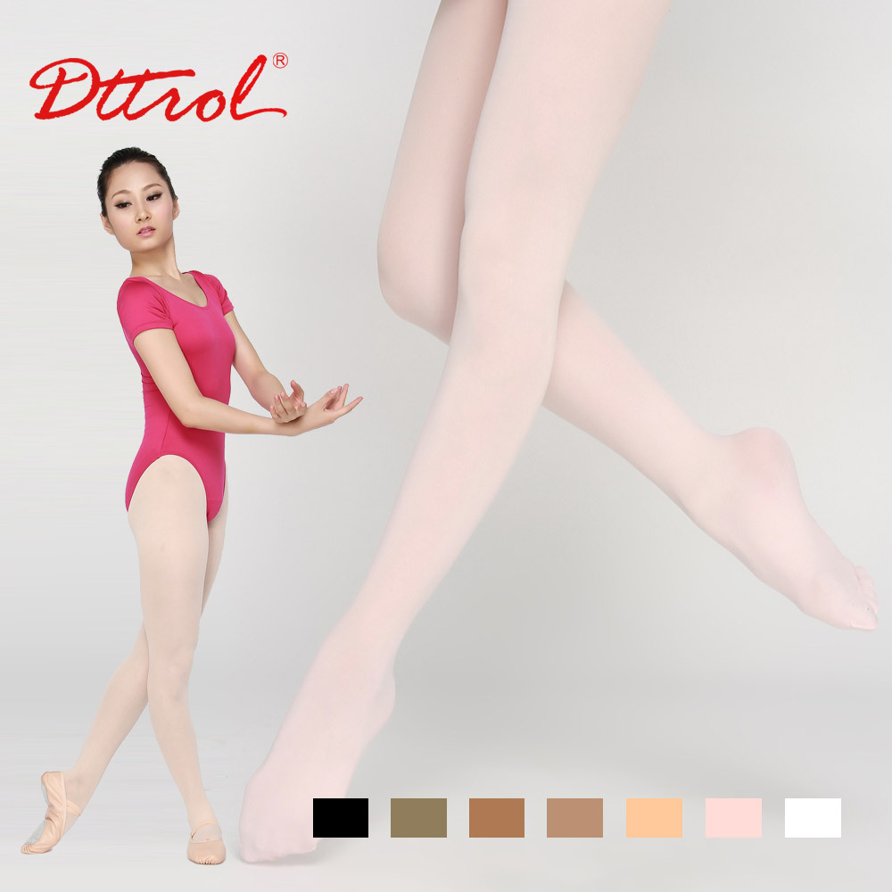 Free shipping Dttrol 2014 Pretty Adult Dance Ballet Women Footed tights (D004819)(China (Mainland))