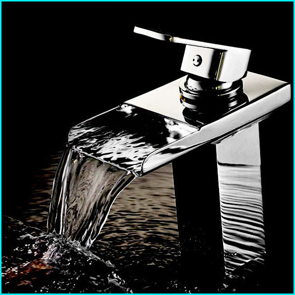 Waterfall Bathroom Sink Hot Cold Basin Faucets,Mixers & Taps Deck Mounted Single Hole Contemporary Ceramic torneira banheiro(China (Mainland))