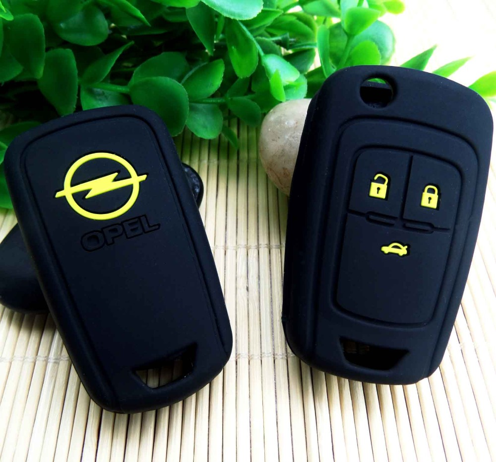 For Opel Astra 2/3 Button Silicone Remote Key Cover Case Fob For VAUXHALL OPEL CORSA ASTRA key case chain shell stickers(China (Mainland))