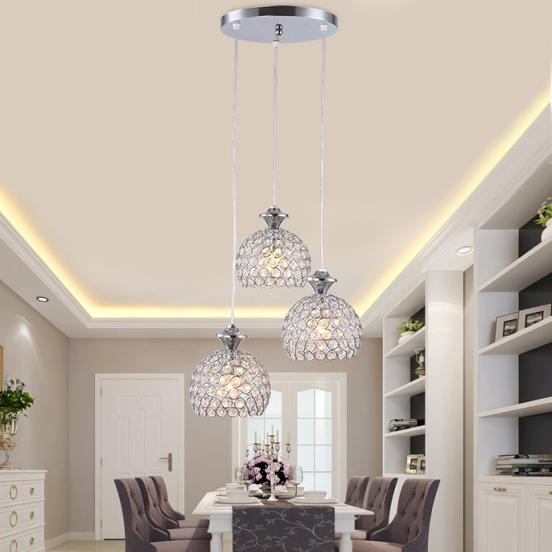 modern crystal design pendant light glass lampshade moderne lighting for dining room kitchen lights loft lustre retro lamp(China (Mainland))