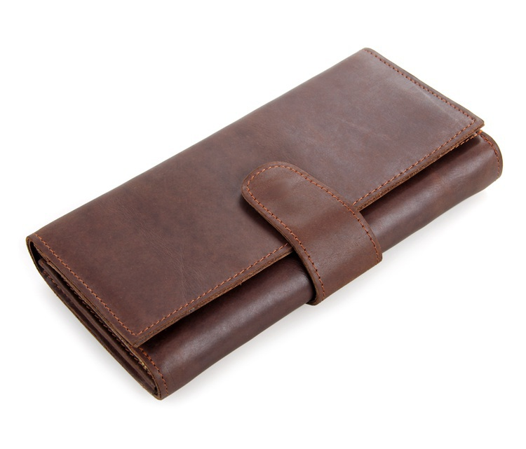 JMD 8052C New Fashion Real Leather Men's Clutches Wallets Purses Travel Accessories Free Shipping(China (Mainland))