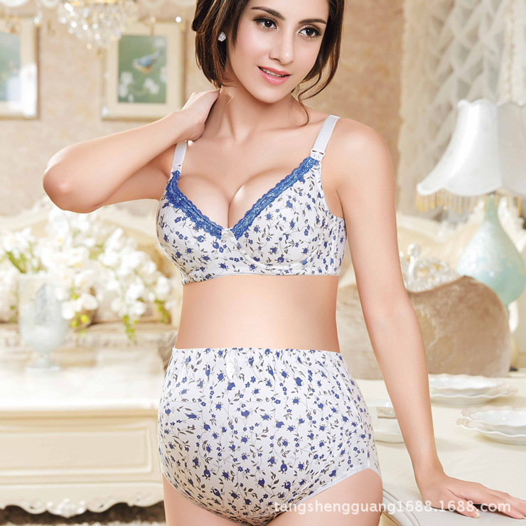 Aliexpress.com : Buy Underwire Flower Nursing Bra Feeding ...