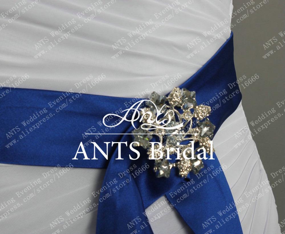 Royal Blue Bridal Dresses Dress With Royal Blue Sash