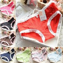 Womens Sexy Panties Underpants Cotton Briefs Cute Polka Dots Underwear Brief  Free Shipping