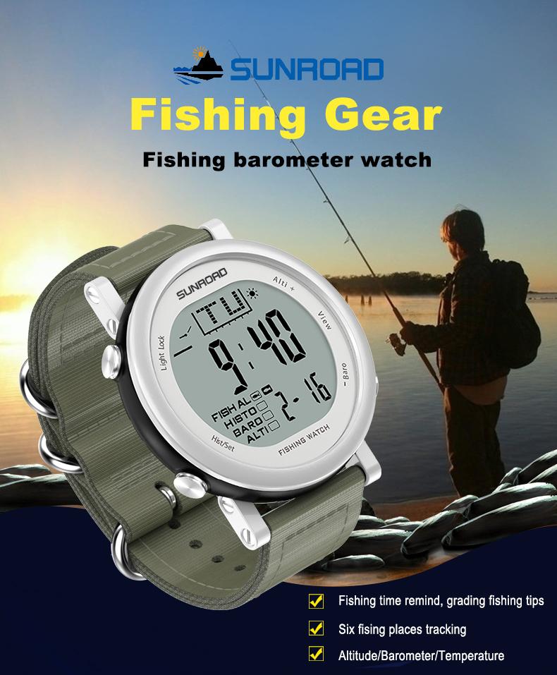 цифровой барометр рыбака sunroad