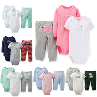 Avivababy original Baby Girls carters Clothings Sets brand imported clothing baby sets carters baby clothing 3 pcs sets