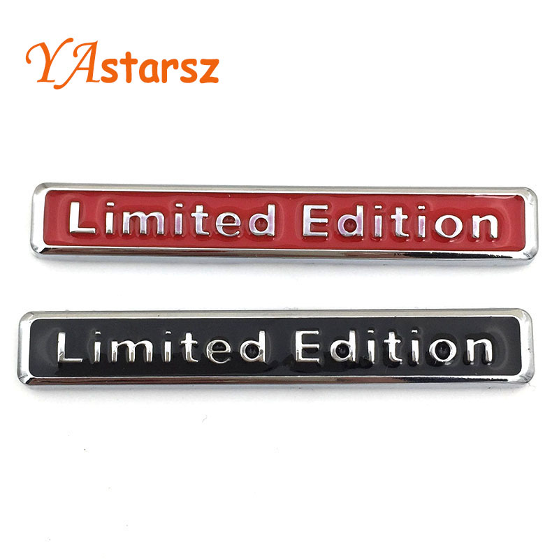 Brand 3D Metal Chrome Limited Edition Car Sticker Badge Decal Auto Motorcycle Limited Edition Emblem Car Styling Car Accessories(China (Mainland))
