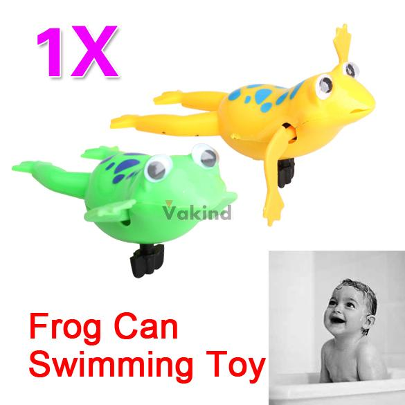 Swimming Frog Toy Battery Operated Pool Bath Cute Toy Wind-Up Swim Frogs Kids player DHL EMS FeDex Free shipping Mail(China (Mainland))