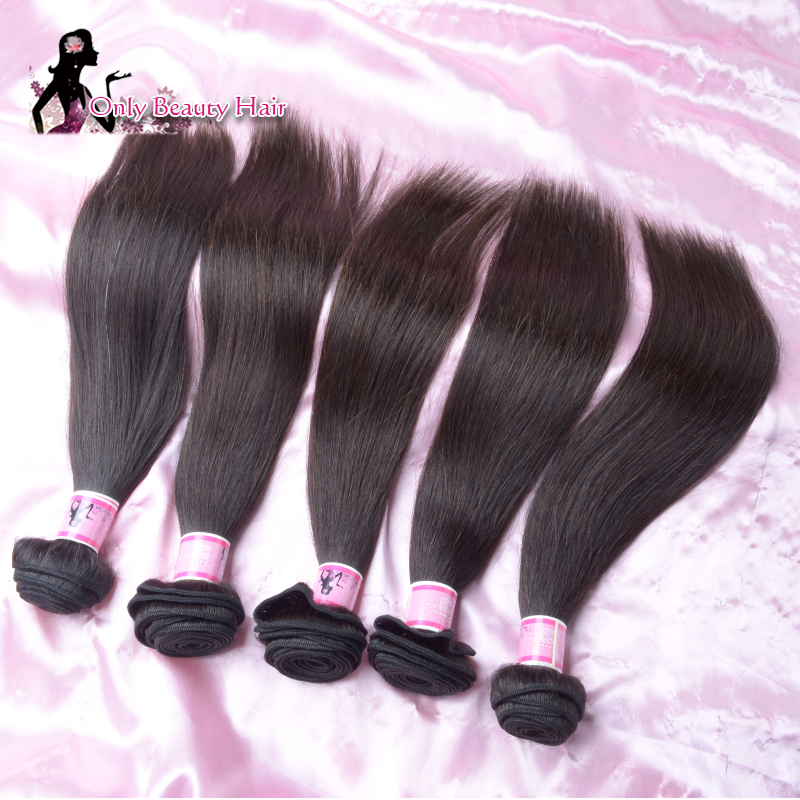 100% Natural Brazilian Virgin Hair Stretchy Brazilian Straight Unprocessed Hair Finest Quality Good prices Real Virgin Cheap(China (Mainland))