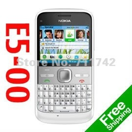 Refurbished 3G WCDMA mobile phone NOKIA E5-00 ,WiFi,GPS,5MP ,4 color Free shipping