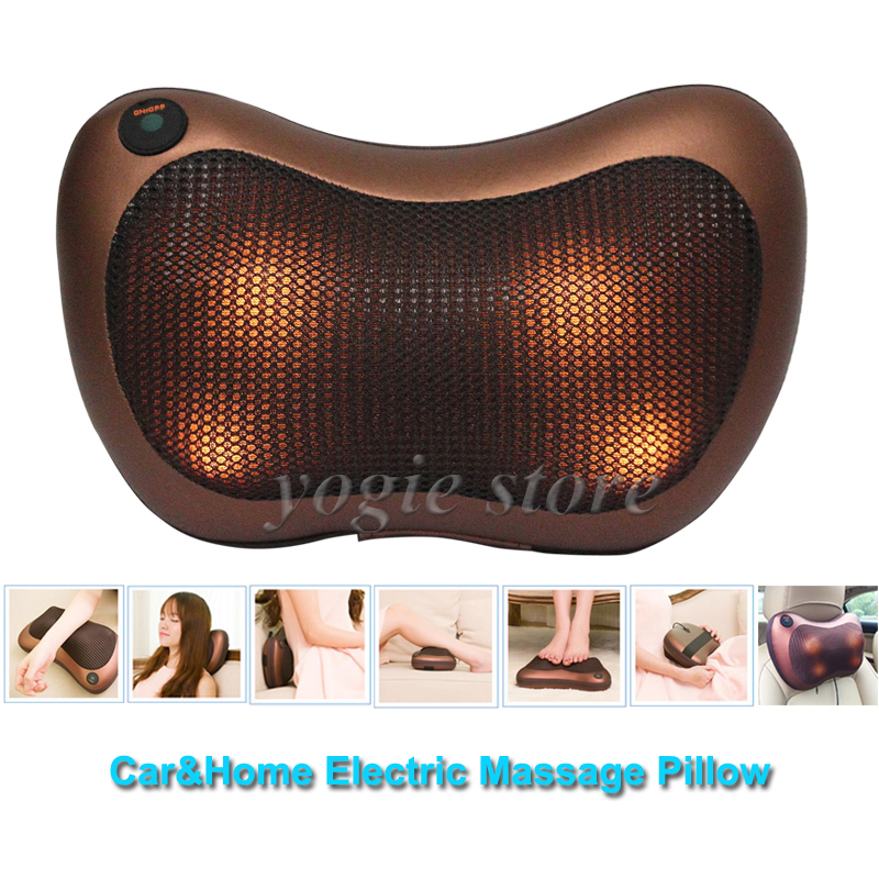 Electronic Massage Pillow for Car Home Electric Full Body Massager Cushion Neck Legs Shiatsu Massage Pillow Relax Health Care(China (Mainland))