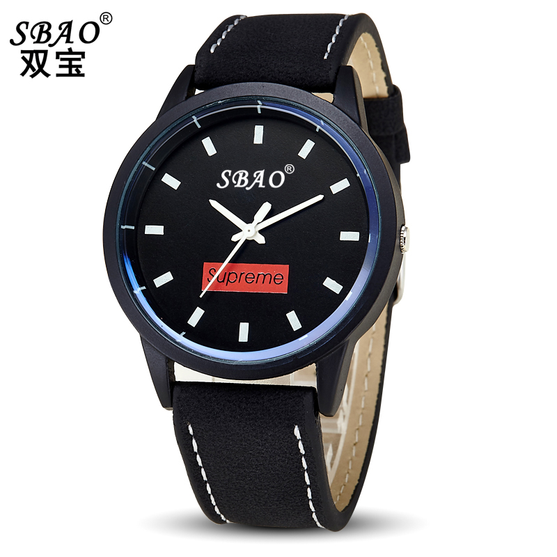 SBAO brand explosion models fashion men's watches, Japan and South Korea version of the simple couple black students watch(China (Mainland))
