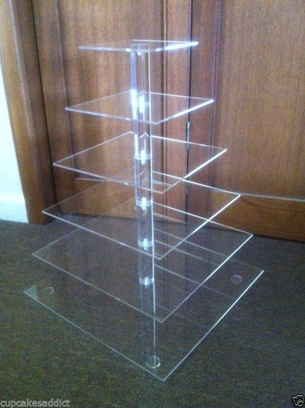 Details about 6 TIER CLEAR ACRYLIC SQUARE CUPCAKE CUP CAKE STAND TOWER WEDDING PARTY DISPLAY(China (Mainland))