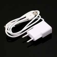 EU Plug Wall Charger + USB Data Cable for SamSung Galaxy Note2 II N7100 S4 S3 free shipping(China (Mainland))