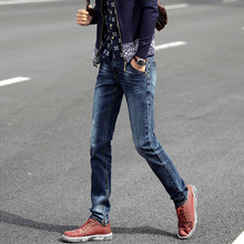 2016 Brand Men Jeans Top Quality High Grade Straight Slim Straight Retro Men Jeans Trousers Masculino