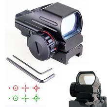 Buy Tactical Reflex Red/Green Laser 4 Reticle Holographic Projected Dot Sight Scope Airgun Rifle sight Hunting Rail Mount 20mm for $24.99 in AliExpress store
