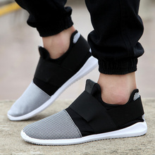 cheap free shipping air mesh fabric mens loafers black white color cloth patchwork leisure canvas shoes for man cool walk shoes(China (Mainland))