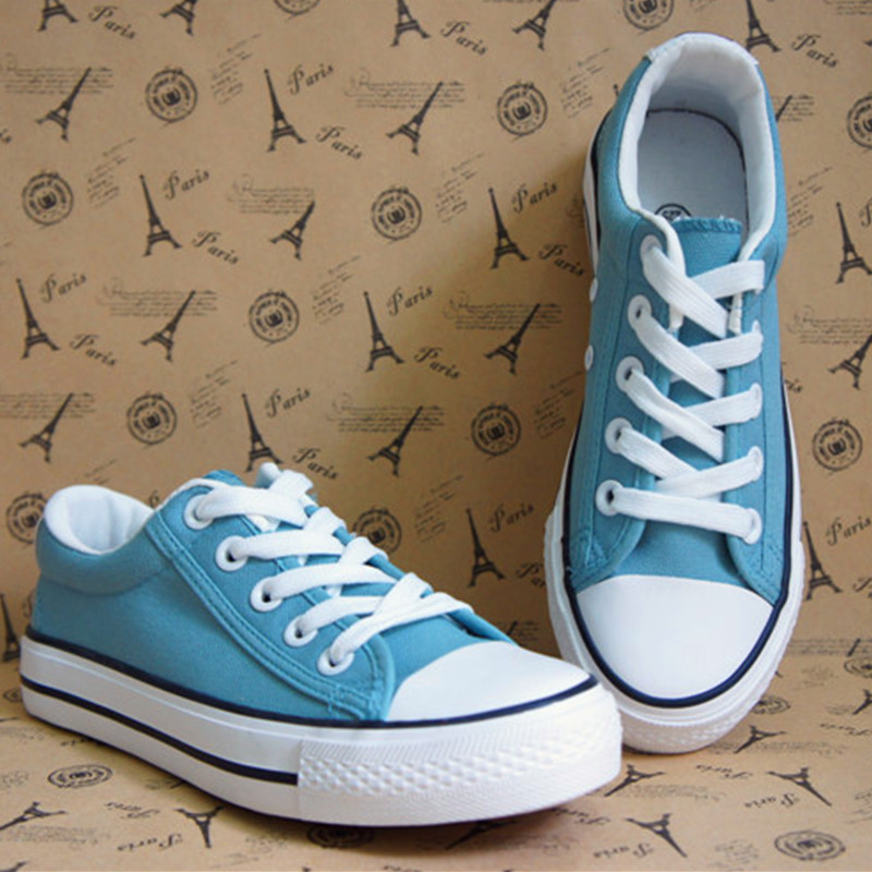 plain low all-match canvas shoes female Han Banchao solid breathable students leisure training women a generation of fat(China (Mainland))