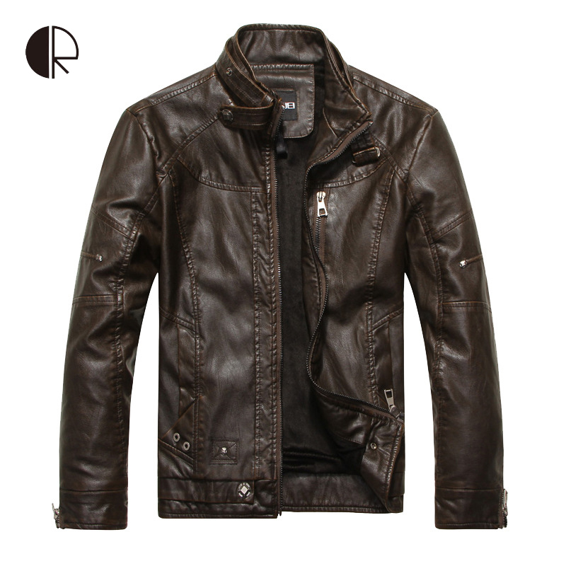 2015 New Arrival Brand Motorcycle Leather Jackets Men Jaqueta De Couro Masculina Mens Leather Jackets Zip Leather Jackets Одежда и ак�е��уары<br><br><br>Aliexpress