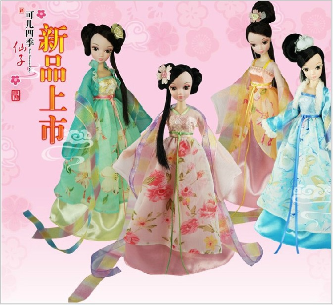 The new four seasons fairy the doll girl toys creative furnishing articles limited edition collector princess(China (Mainland))
